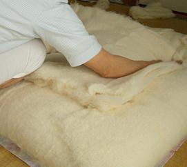木綿布団の打直し
