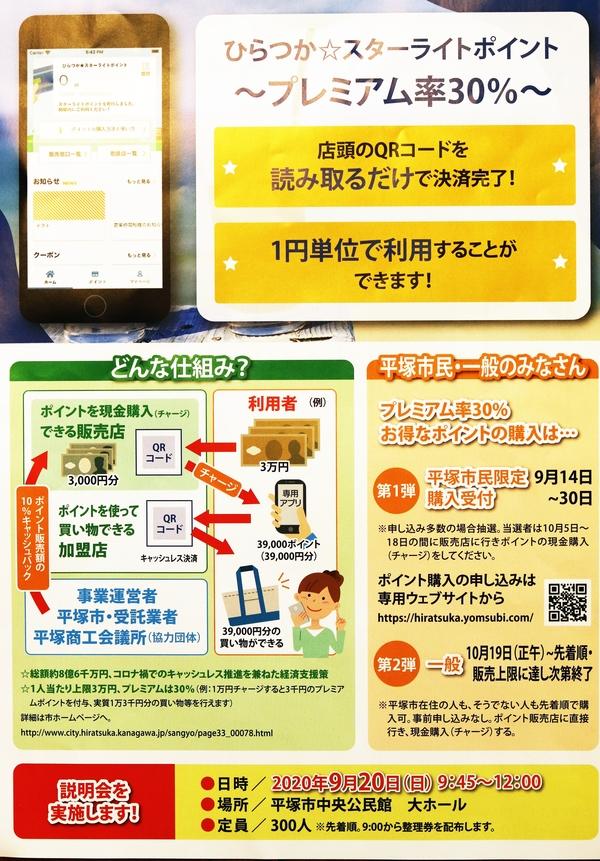 ひらつか☆スターライトポイント【当店でチャージした方にクーポンプレゼント!】